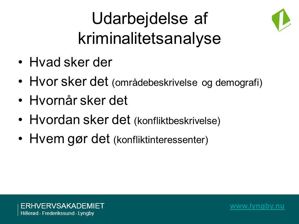 Udarbejdelse af kriminalitetsanalyse