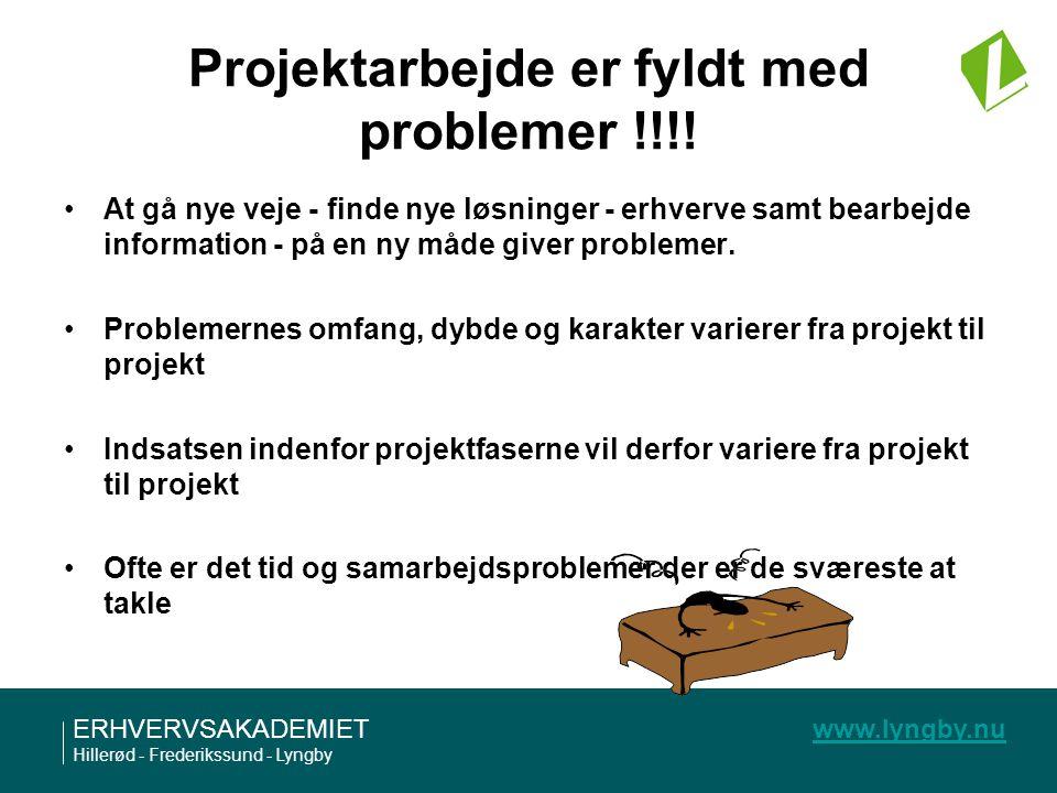 Projektarbejde er fyldt med problemer !!!!