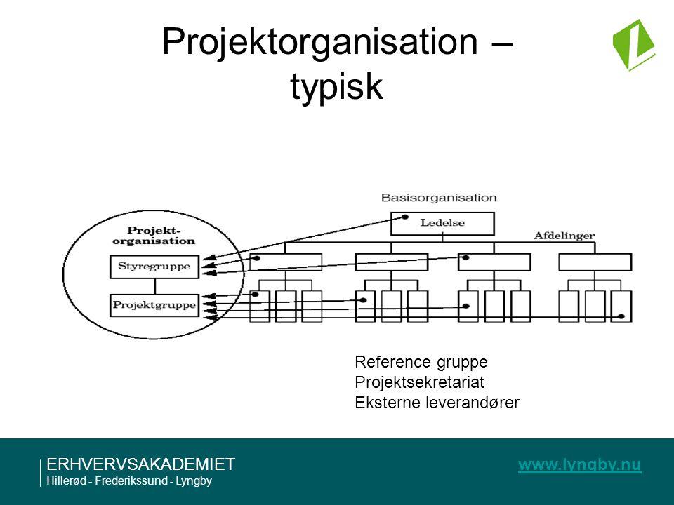 Projektorganisation – typisk