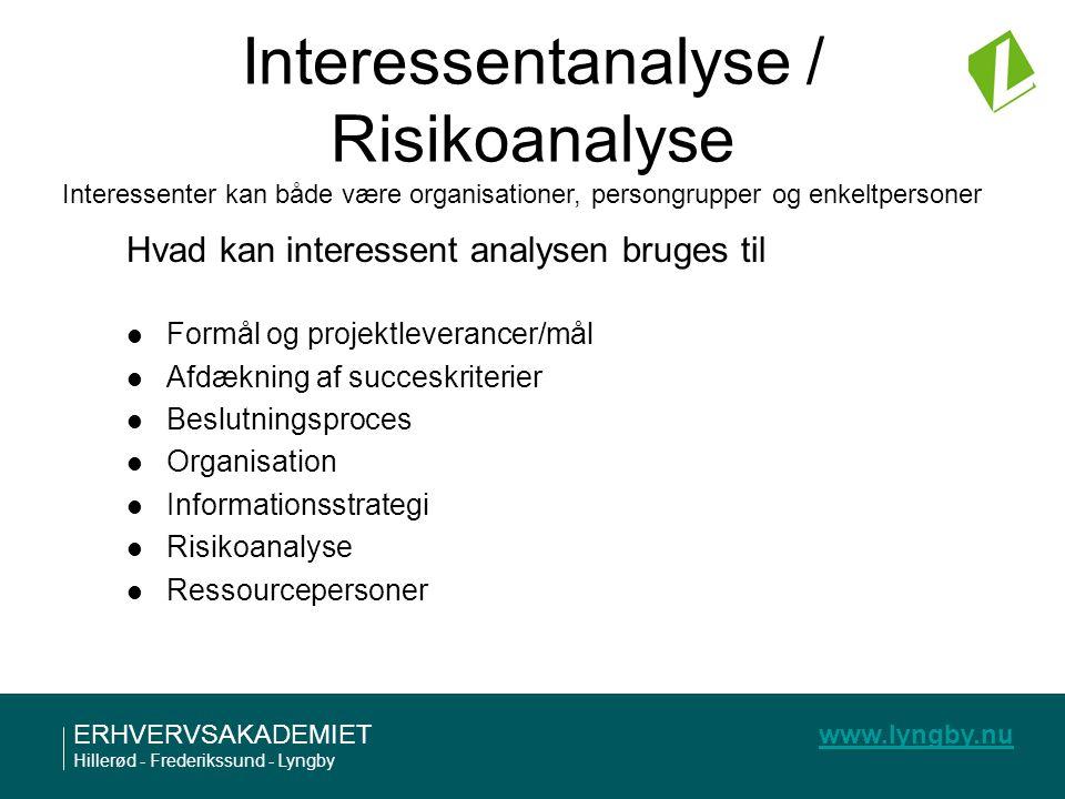 Interessentanalyse / Risikoanalyse