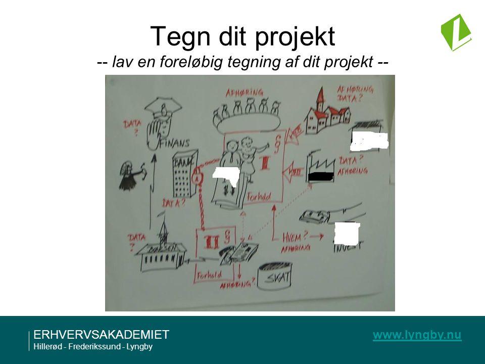 Tegn dit projekt -- lav en foreløbig tegning af dit projekt --