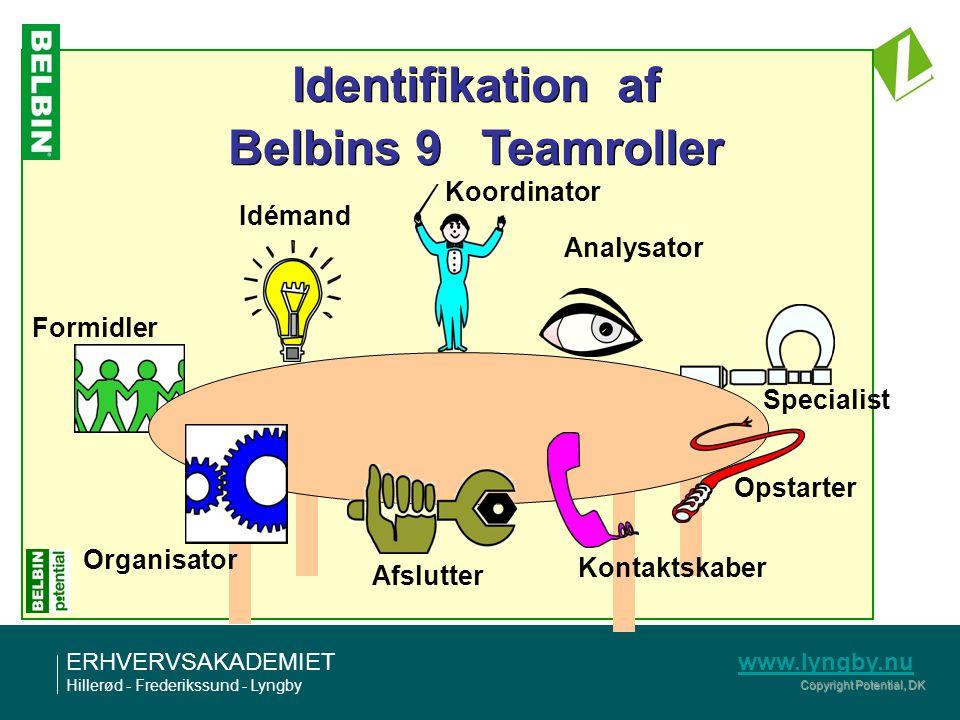 Identifikation af Belbins 9 Teamroller