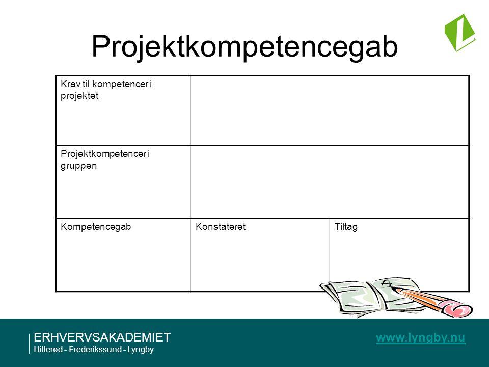 Projektkompetencegab