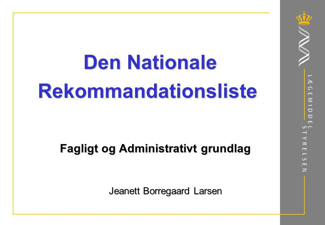 Den Nationale Rekommandationsliste
