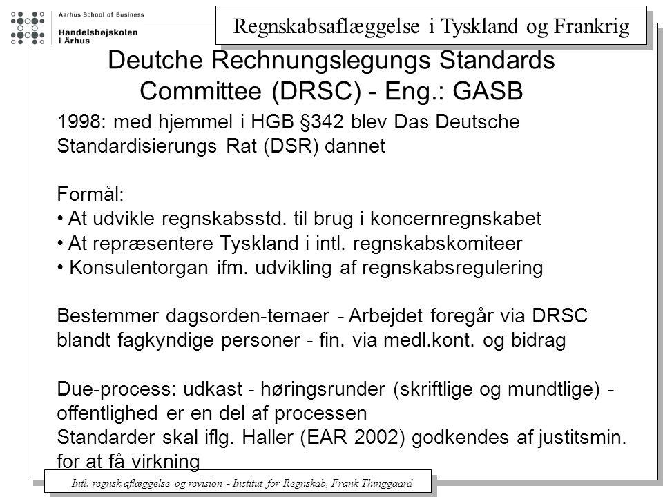 Deutche Rechnungslegungs Standards Committee (DRSC) - Eng.: GASB