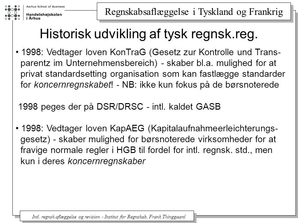 Historisk udvikling af tysk regnsk.reg.