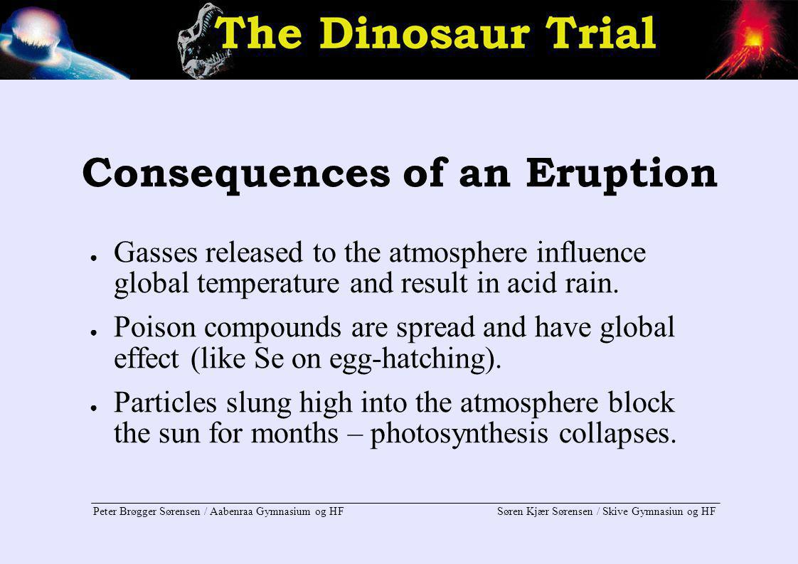 Consequences of an Eruption