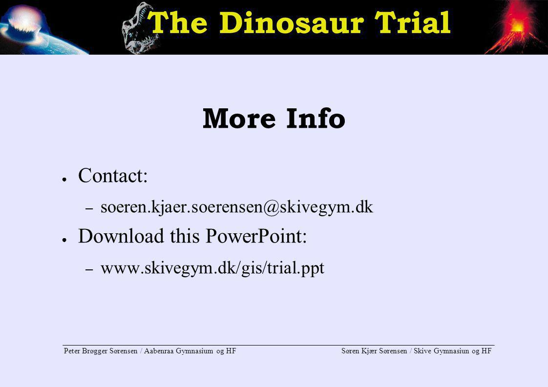 More Info Contact: Download this PowerPoint: