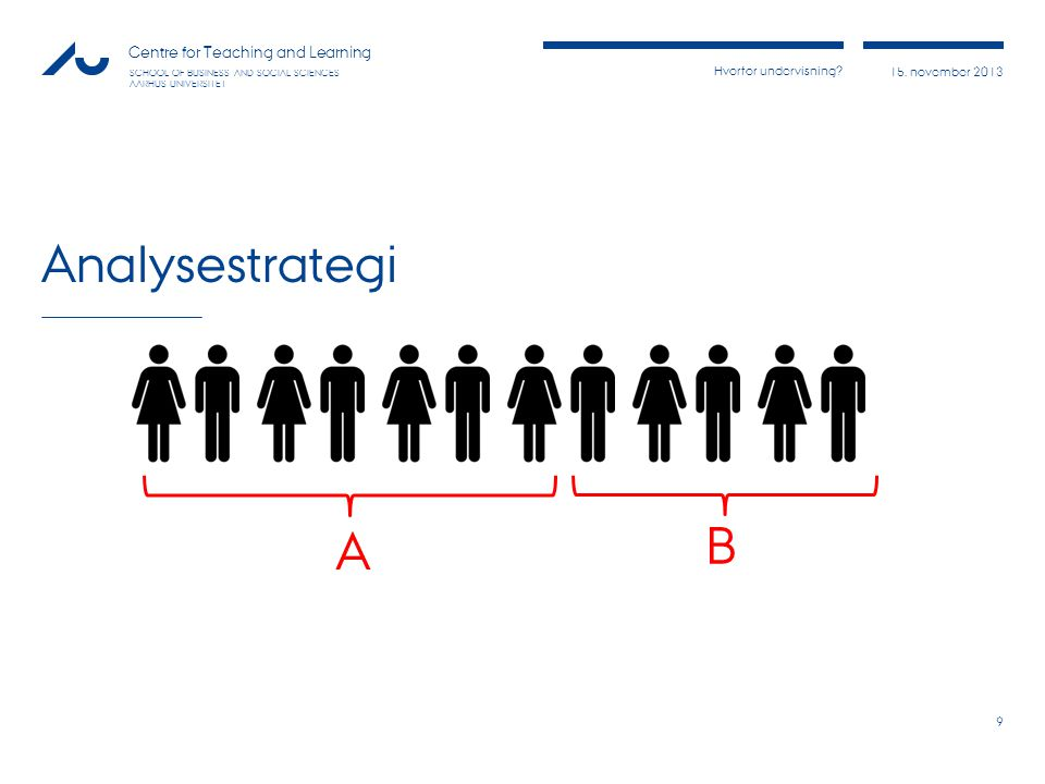 Analysestrategi A B
