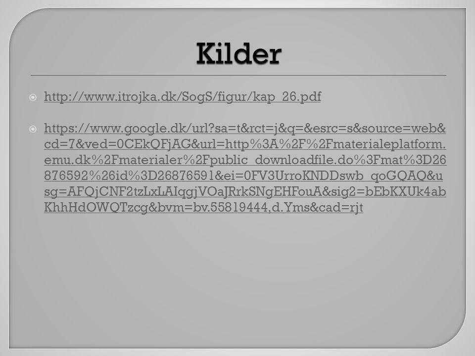 Kilder http://www.itrojka.dk/SogS/figur/kap_26.pdf
