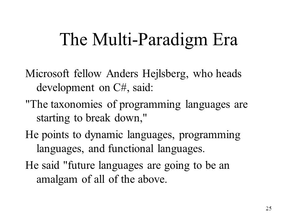 Inventing the paradigm for the future