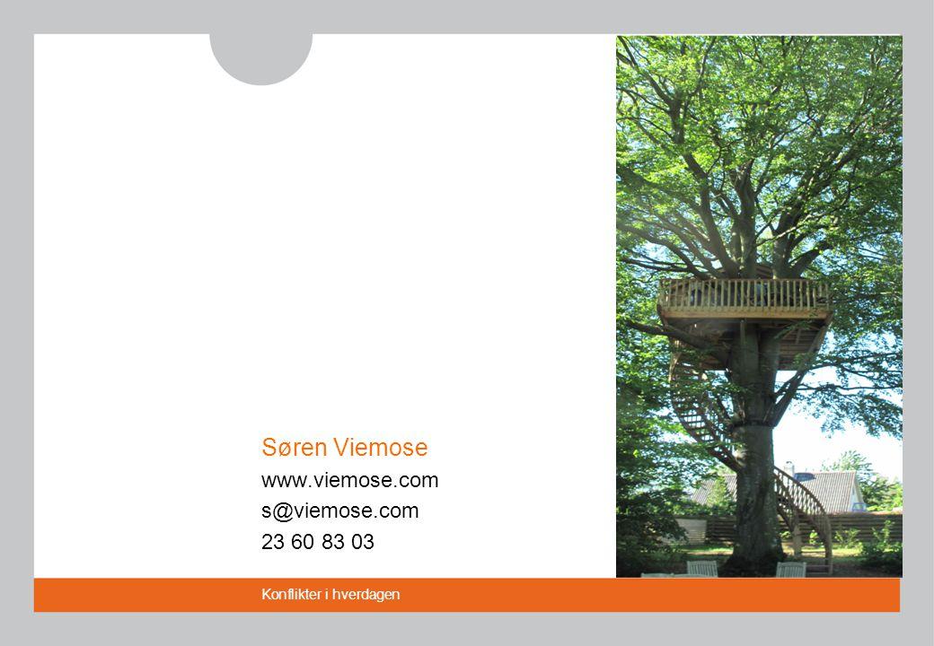 Søren Viemose www.viemose.com s@viemose.com 23 60 83 03