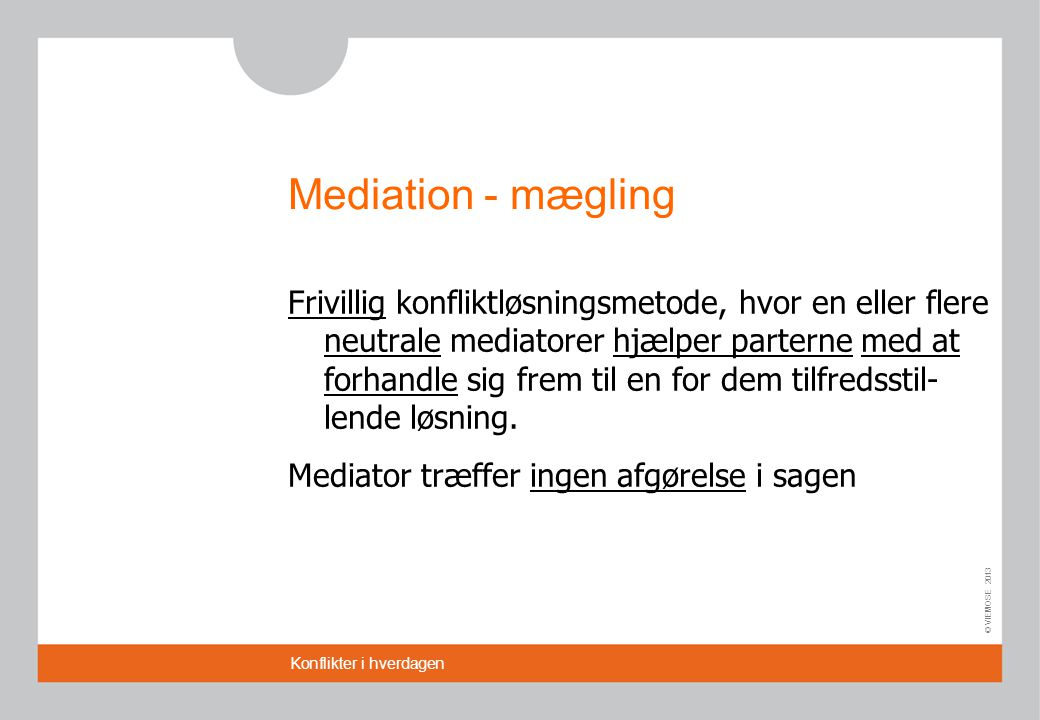 Mediation - mægling