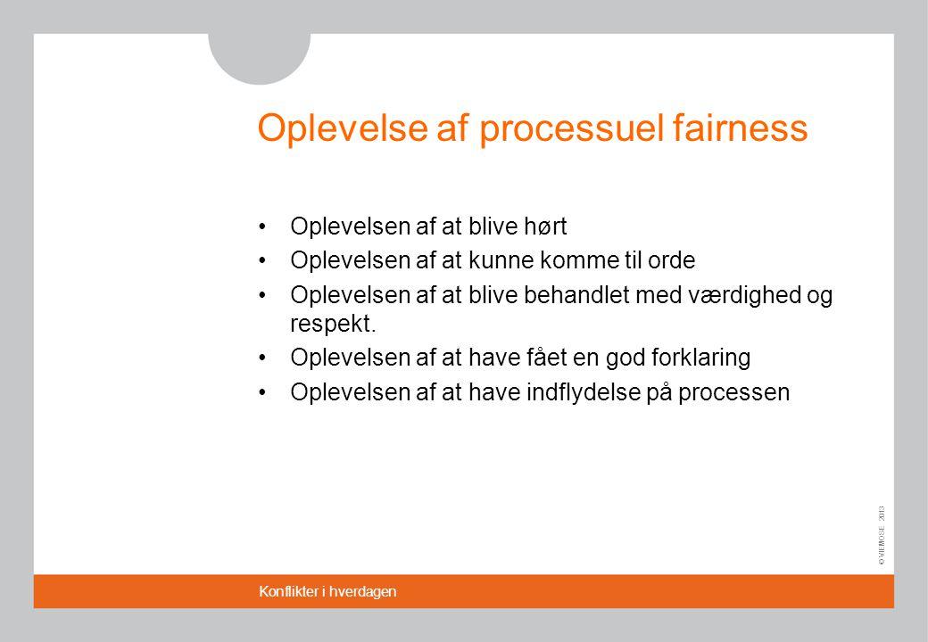 Oplevelse af processuel fairness