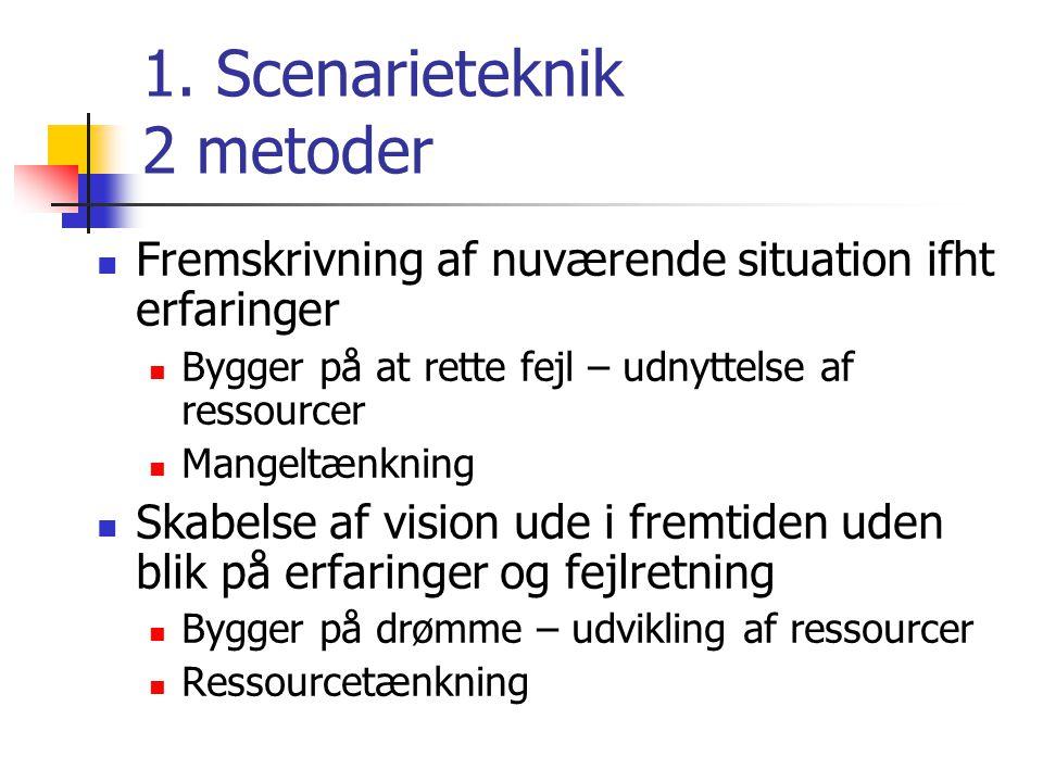 1. Scenarieteknik 2 metoder