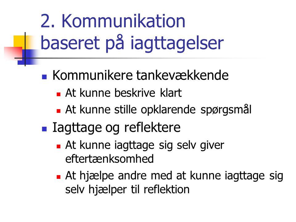 2. Kommunikation baseret på iagttagelser