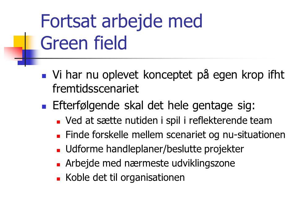 Fortsat arbejde med Green field