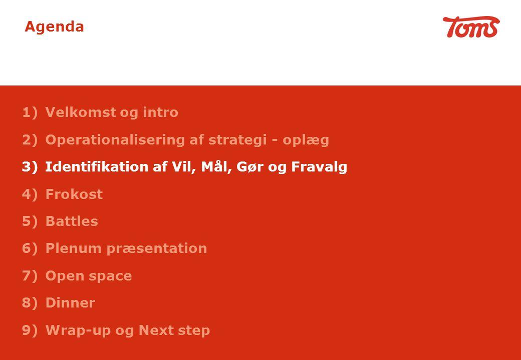 Agenda Velkomst og intro Operationalisering af strategi - oplæg