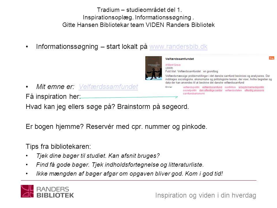Informationssøgning – start lokalt på www.randersbib.dk