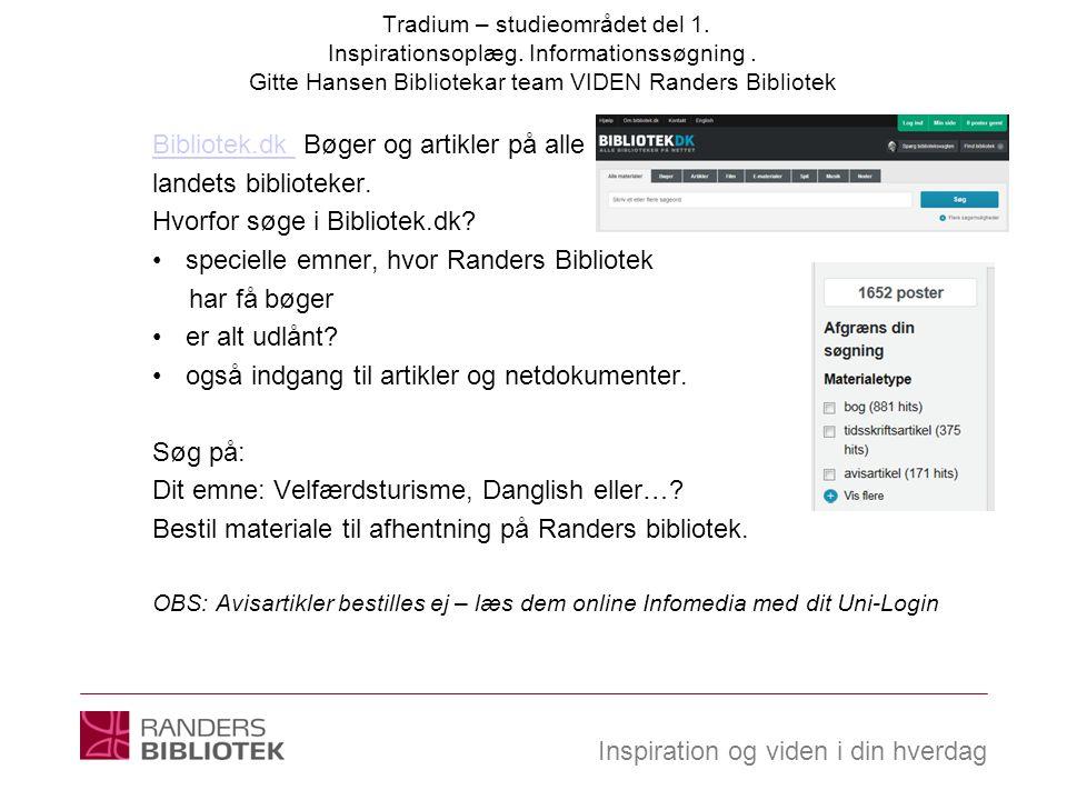 Bibliotek.dk Bøger og artikler på alle landets biblioteker.