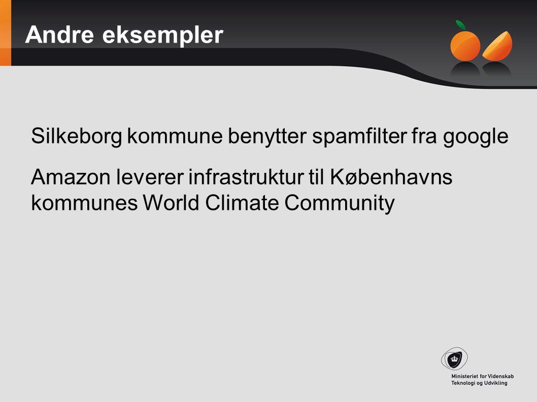 Andre eksempler Silkeborg kommune benytter spamfilter fra google