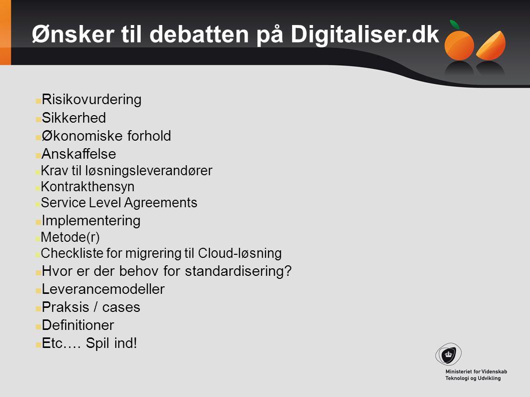 Ønsker til debatten på Digitaliser.dk