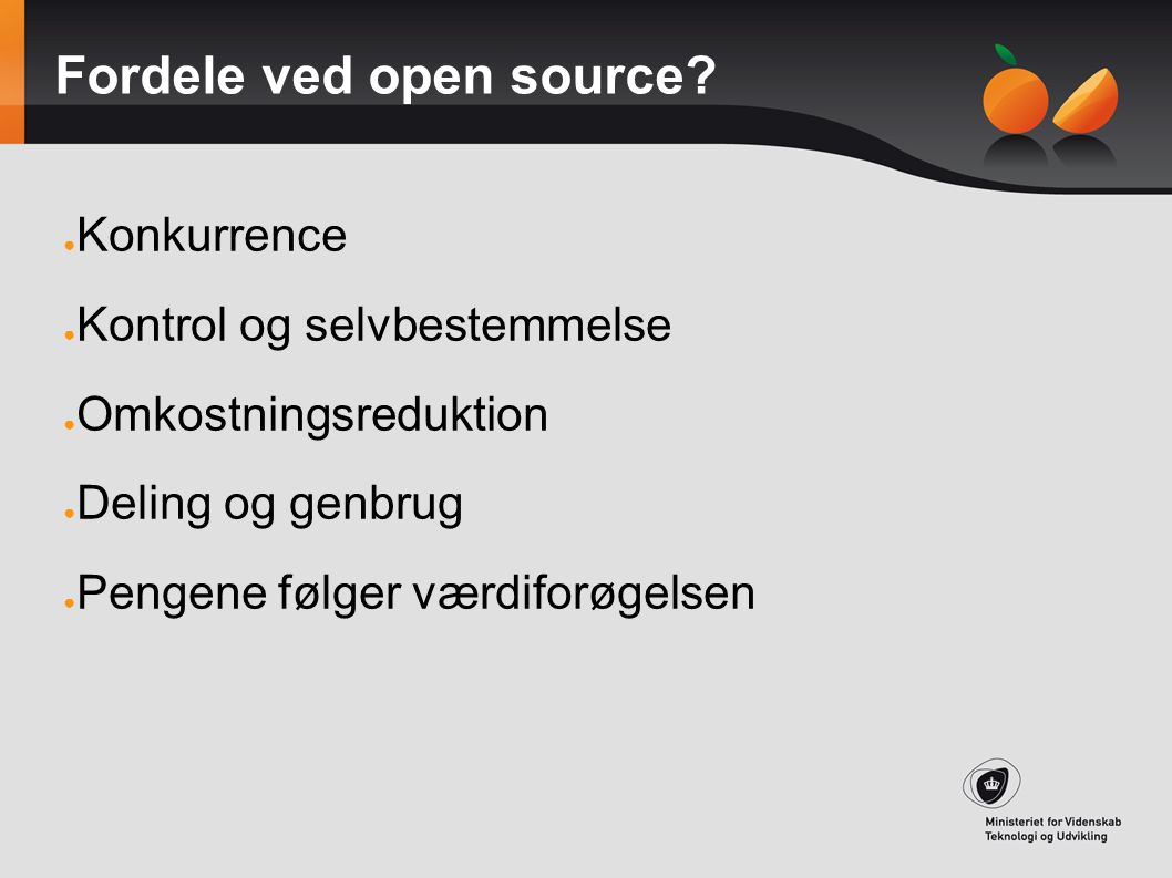 Fordele ved open source
