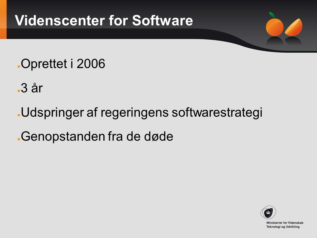Videnscenter for Software