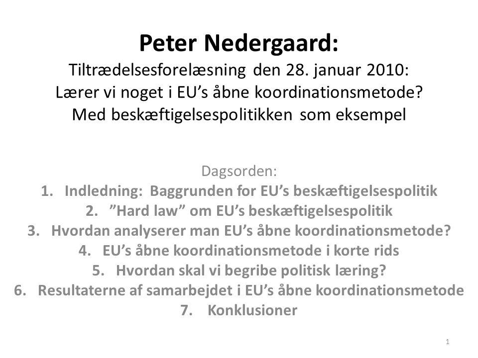 Peter Nedergaard: Tiltrædelsesforelæsning den 28
