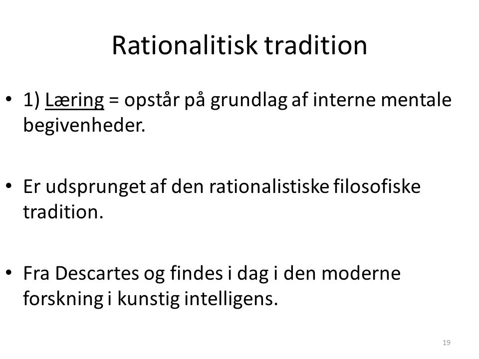 Rationalitisk tradition