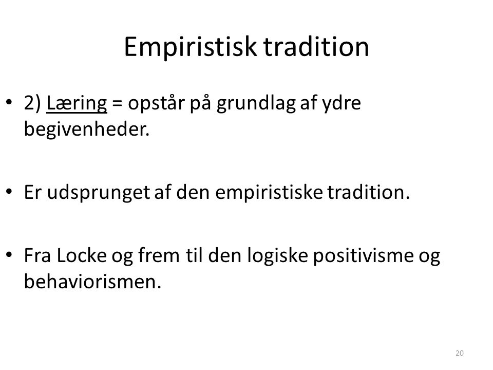 Empiristisk tradition
