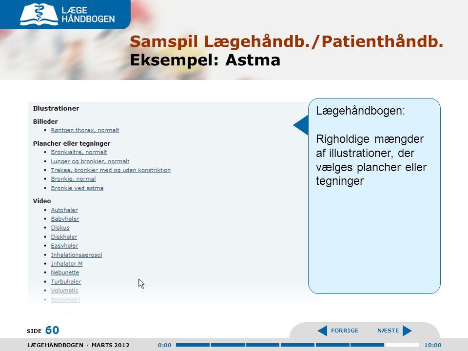 Samspil Lægehåndb./Patienthåndb. Eksempel: Astma