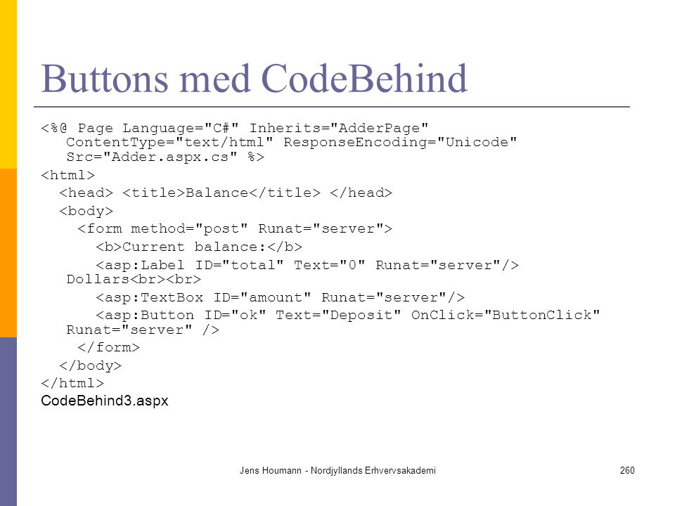 Buttons med CodeBehind