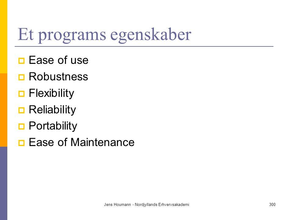 Et programs egenskaber