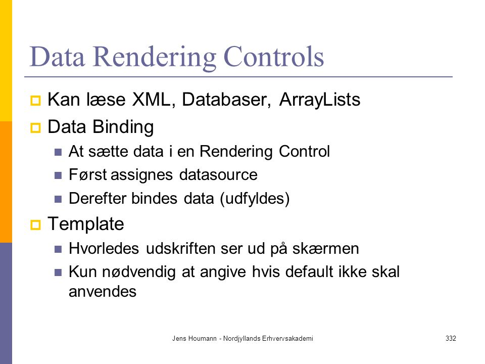 Data Rendering Controls
