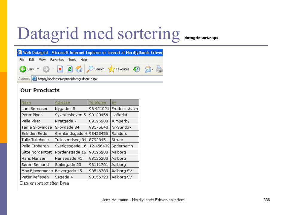 Datagrid med sortering datagridsort.aspx