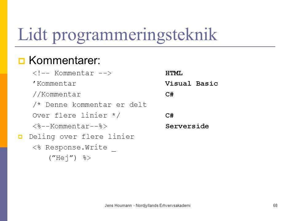 Lidt programmeringsteknik