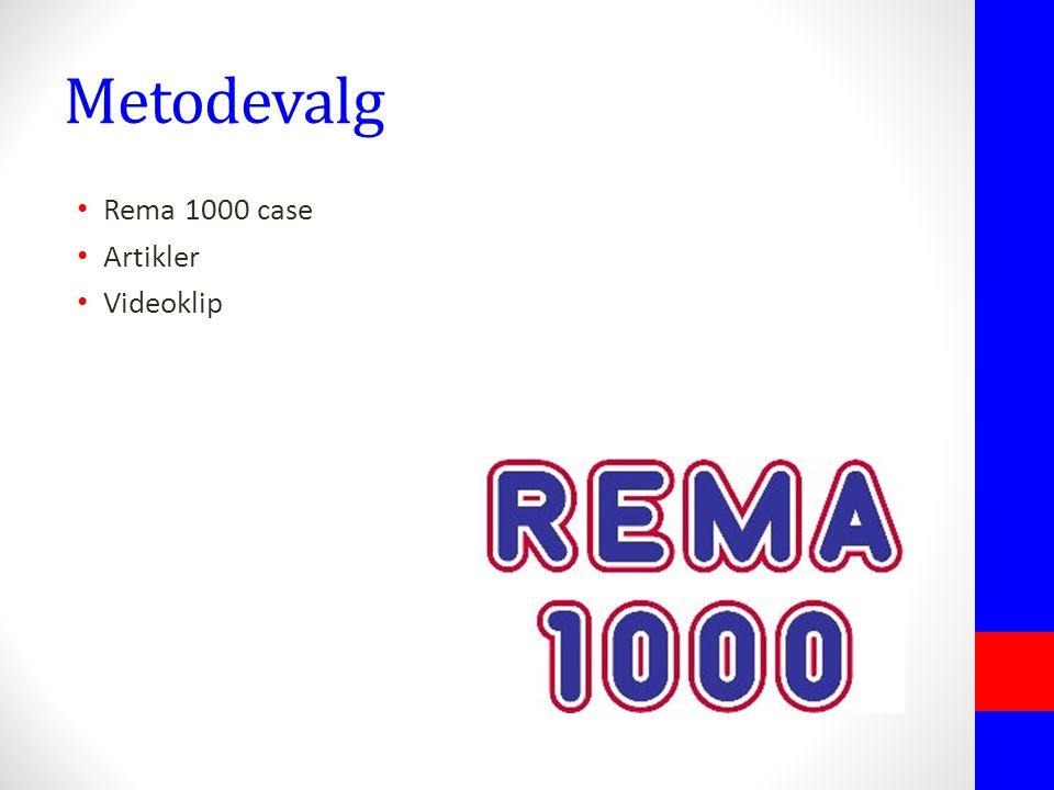 Metodevalg Rema 1000 case Artikler Videoklip