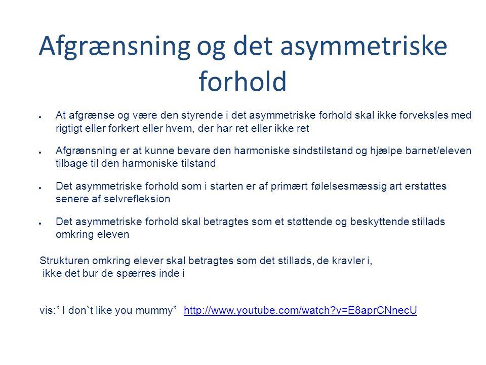 Afgrænsning og det asymmetriske forhold