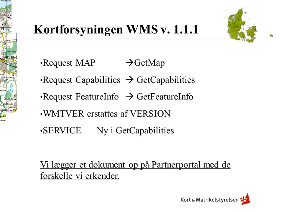 Kortforsyningen WMS v. 1.1.1 Request MAP GetMap