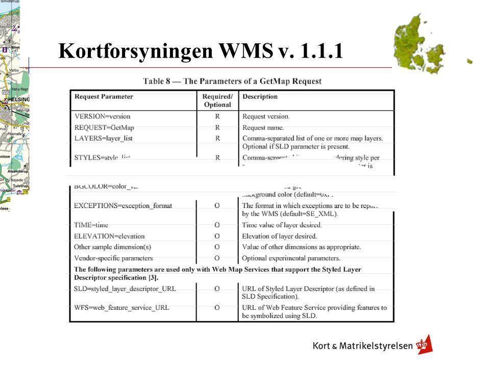 Kortforsyningen WMS v. 1.1.1