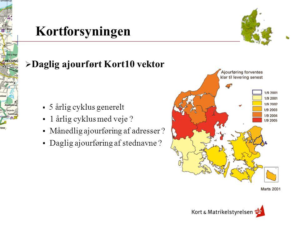 Kortforsyningen Daglig ajourført Kort10 vektor