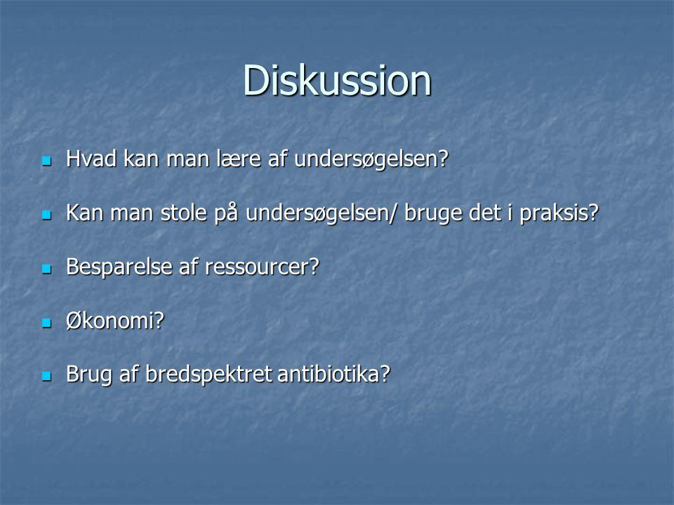 Diskussion Hvad kan man lære af undersøgelsen
