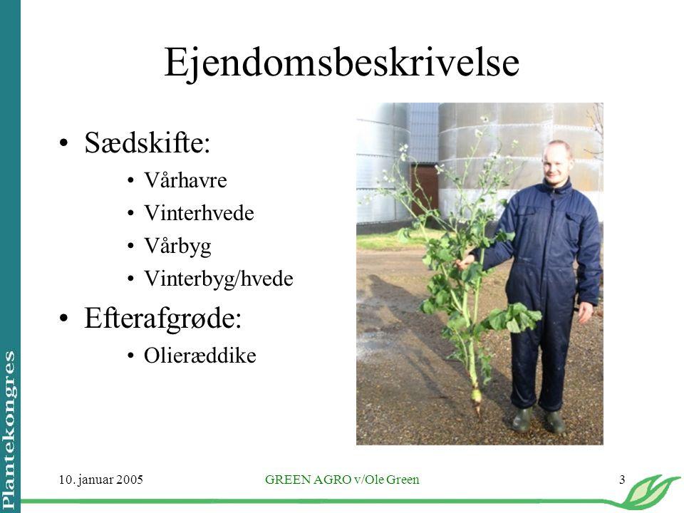 Ejendomsbeskrivelse Sædskifte: Efterafgrøde: Vårhavre Vinterhvede