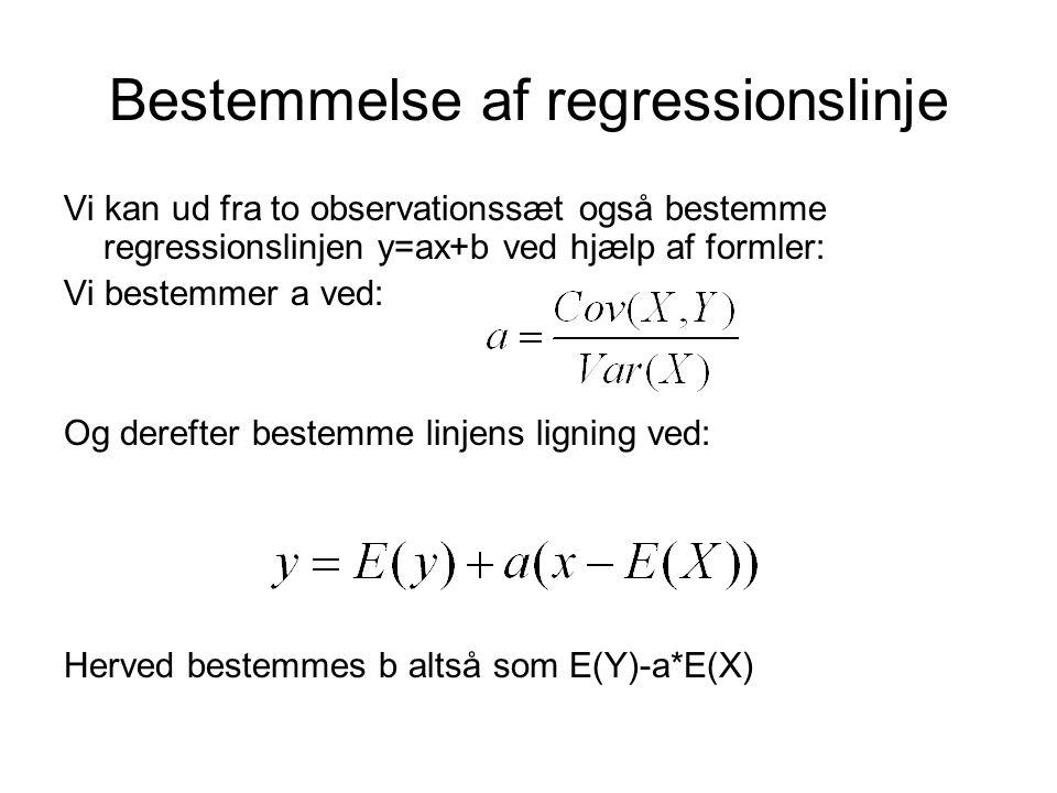 Bestemmelse af regressionslinje