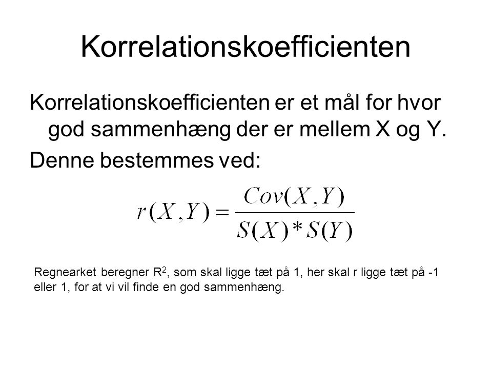 Korrelationskoefficienten