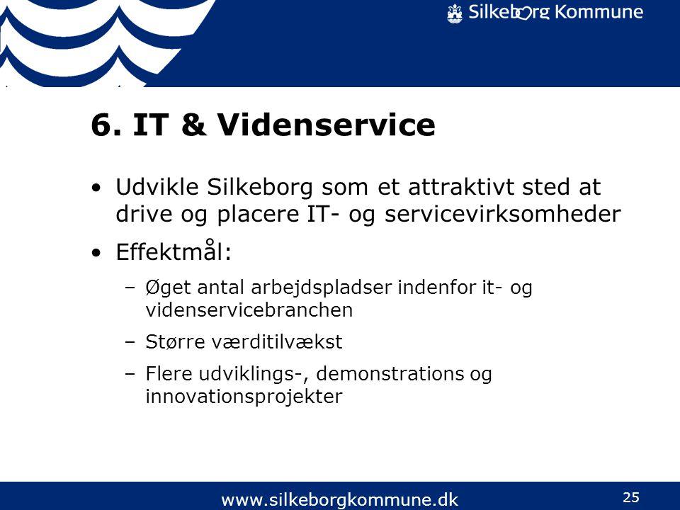 6. IT & Videnservice Udvikle Silkeborg som et attraktivt sted at drive og placere IT- og servicevirksomheder.