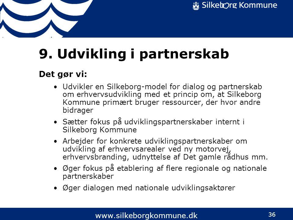 9. Udvikling i partnerskab