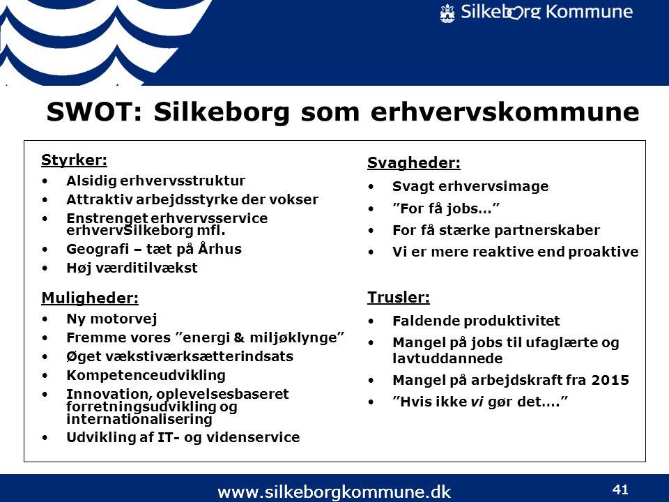 SWOT: Silkeborg som erhvervskommune