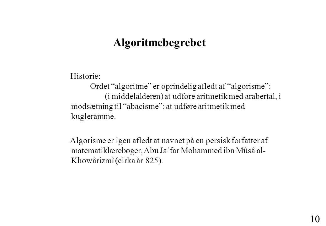 Algoritmebegrebet